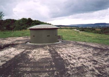 MG turret of Battery Nord