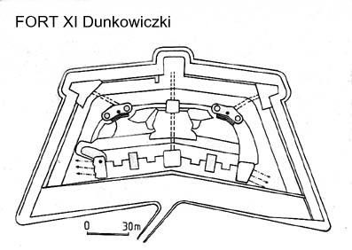 plan of fort Dunkowiczki